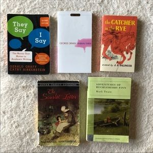 High School AP Lit English Class Books